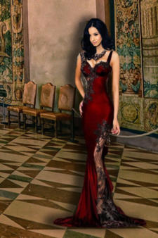 Maeli in Red Dress.png