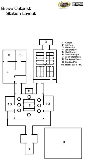 Hot Room. Outpost Floor Plan