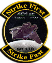 Former logo of the 401st Fighter Wing