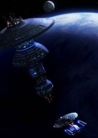 Galaxy class approaches a Spacedock type station.jpg