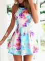 Blue and Pink short floral dress.png